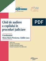 Ghid de Audiere a Copilului in Proceduri Judiciare