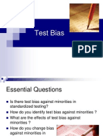 issue in test bias
