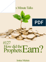 127 How Did Prophets Earn?