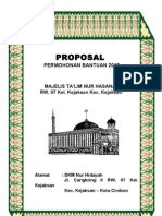Contoh Proposal Bantuan Dana Majelis