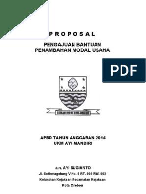 Contoh Proposal Bantuan Dana Usaha Kecil Perorangan Barisan Contoh