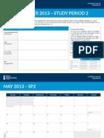OUA Study Planner SP2 2013