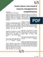 Cultura Organizacional Nueva Tendencia de La Gerencia de Recursos Hacia La Competividad