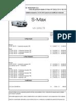 Lista de Preturi FORD S-MAX 15-01-2013