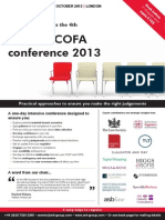 COLP & COFA Conference 2013 - October