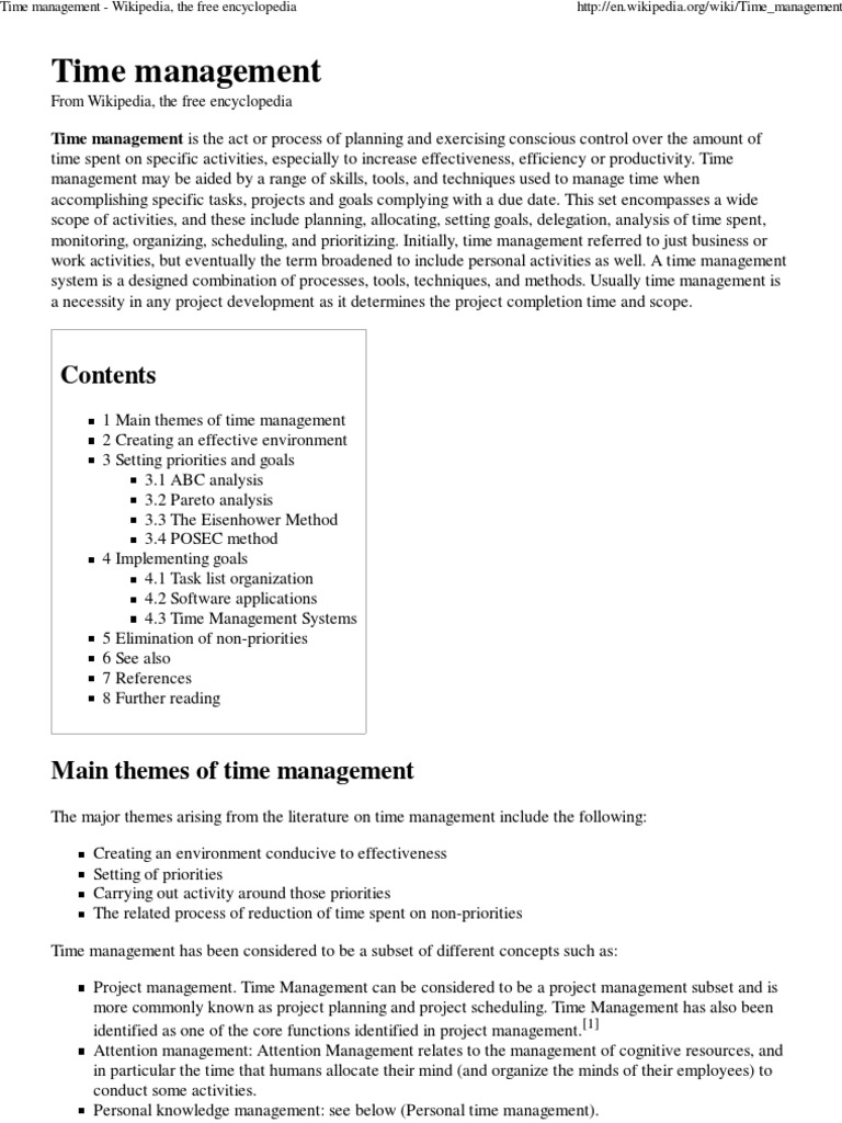 Time management wikipedia the free encyclopedia time time management wikipedia the free encyclopedia time management action philosophy nvjuhfo Gallery