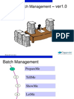 MM Batch Management