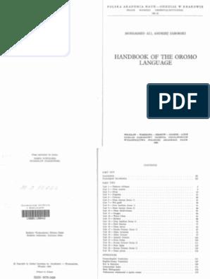 Handbook of Oromo pdf | Grammatical Gender | Stress (Linguistics)