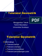Toleransi Geometrik