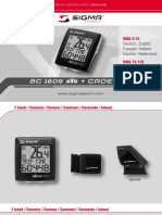 Manual de Instrucciones Velocimetro Sigma BC 1609 STS