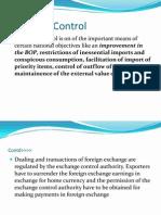 Exchange Control