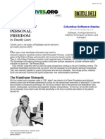 Personal Computers:Personal Freedom