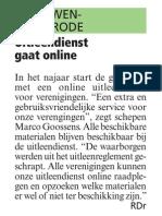 Artikel HBVL 10/07/2013 - Gemeentelijke uitleendienst gaat online
