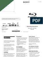 Sony BDPN460 manual
