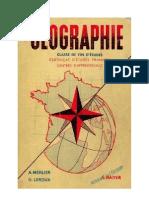 Géographie Classe de Fin d'Etudes Certificat d'Etudes Merlier-Leroux