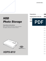 Sony HDD photo storage manual