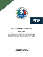 Programma Amministrativo Della Lista Civica Rinascita Trinitapolese