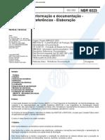 NBR 6023 2002 - Informação e documentação - Referências - Elaboração