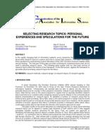 CAIS 8-21 Selecting Research Topics
