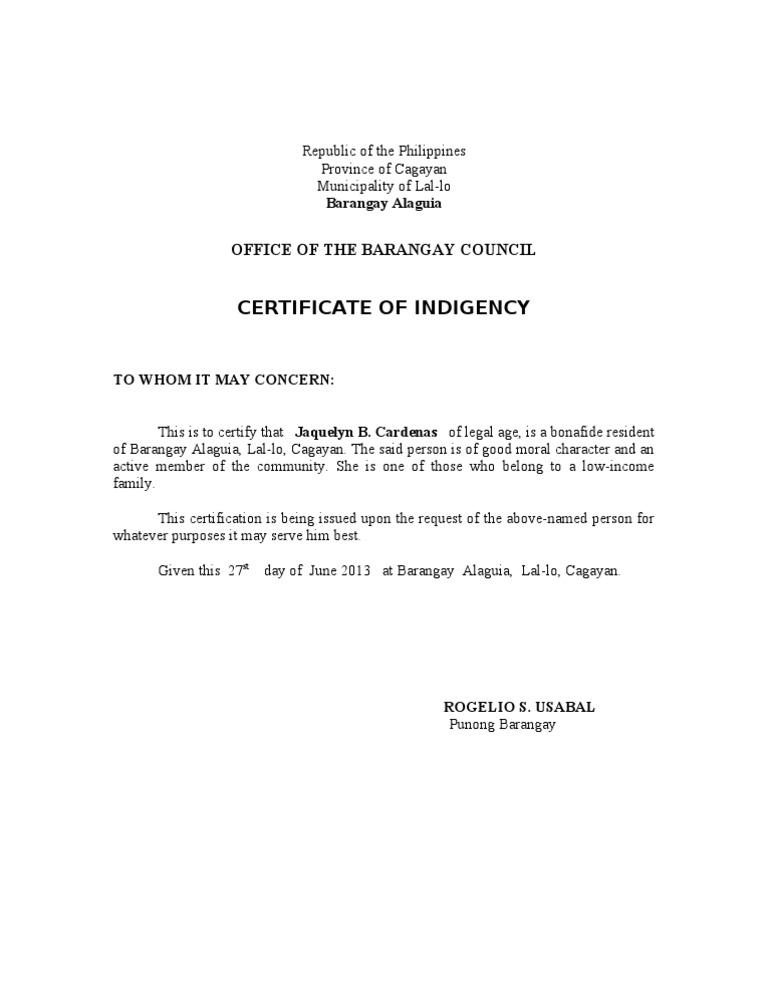 Barangay certificate yadclub Gallery