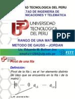 Rango de Una Matriz - Gauss