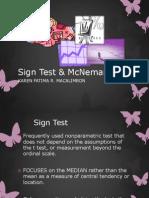 2Sign Test & McNemar Test