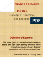 TOPIC 2Concept of Learning & Teaching