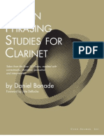 Phrasing Studies Clarinet