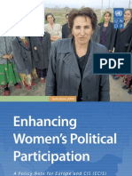 Enhancing women's political participation