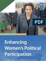 Enhancing women's political participation