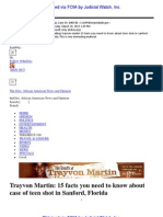 Emailing Trayvon Martin 15 Facts You Need to Know About Teen Shot in Sanford Florida. This is Very Interesting Material.