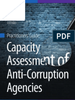 Capacity assessment of anticorruption agencies