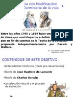 PRESENTACIÓN 1 Evolución. Lamarck y Darwin