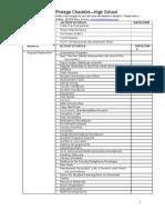 Mentor Checklist High