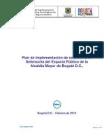 Plan de Implementacion Solucion LAN Defensoria Del Espacio Publico de La Alcaldia Mayor de Bogota V1.0
