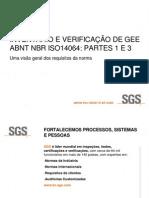 SGS - Inventário e verificação de GEE - ABNT NBR ISO 14064 - Partes 1 A 3