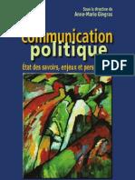 La Communication Politique Etat Des Savoirs Enjeux Et Perspectives