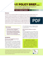 CANARI Policy Brief no. 12  Building capacity to facilitate stakeholder participation in forest management in the Caribbean islands