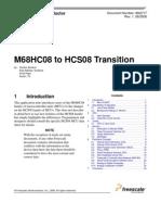 M68HC08 to HCS08 Transition