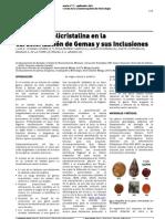 2011 Macla Difraccion Polvo Gemas