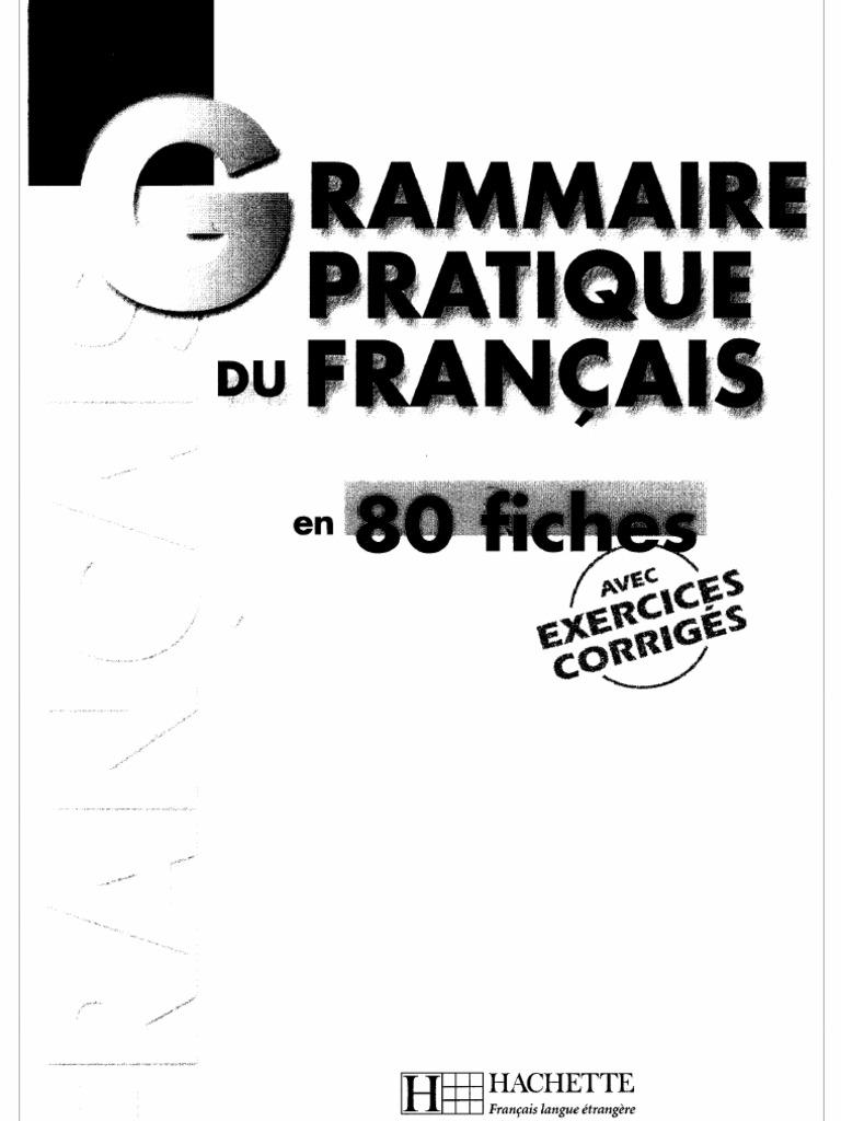 grammaire pratique du francais en 80 fichespdf