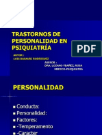 TPersonalidad en Psiquiatria MEDICINA LEGAL
