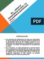 MECANISMOS DE TRANSFERENCIA DE MASA Y SU APLICACIÓN