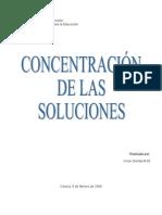 concentracion de las soluciones