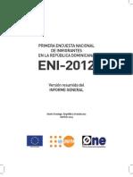 Primera Encuesta de Inmigrantes en La Rep. Dominicana -2012