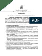 Edital Concurso Procuradoria Geral Do Estado Da Bahia