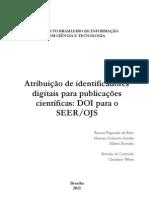 Atribuição de identificadores digitais para publicações científicas