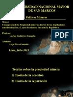Politicas Mineras Leyes de Mineria Durante La Republica
