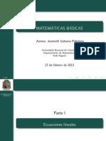 Tema 5 Ecuaciones y Desigualdades