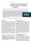 Sustaining Potential of Information and Communication Innovation to Facebook Diversity